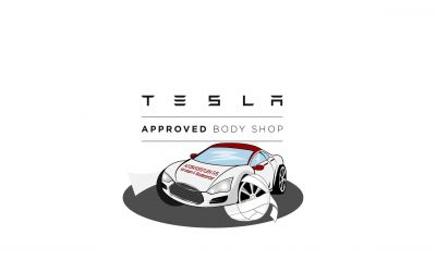 Teslatræf hos Autoskadestuen - Tesla Approved Body Shop